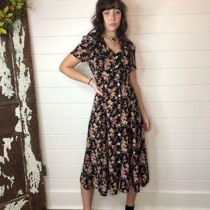 Vintage 90's My Michelle floral button dress